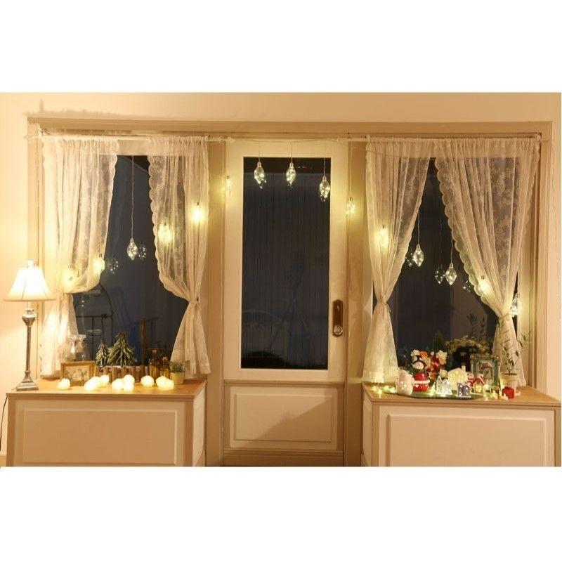 【室内用 イルミネーション】LED ジュエリーバルブ カーテンライト 15個付 【JB15D】CR-82