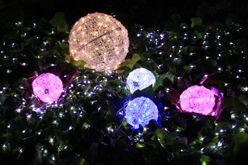 LEDクリスタルボールライト20cm【L3D222P・ピンク色】