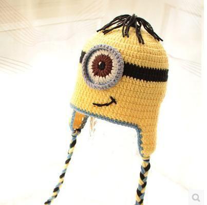 親子ペアルック ミニオン ニット帽子