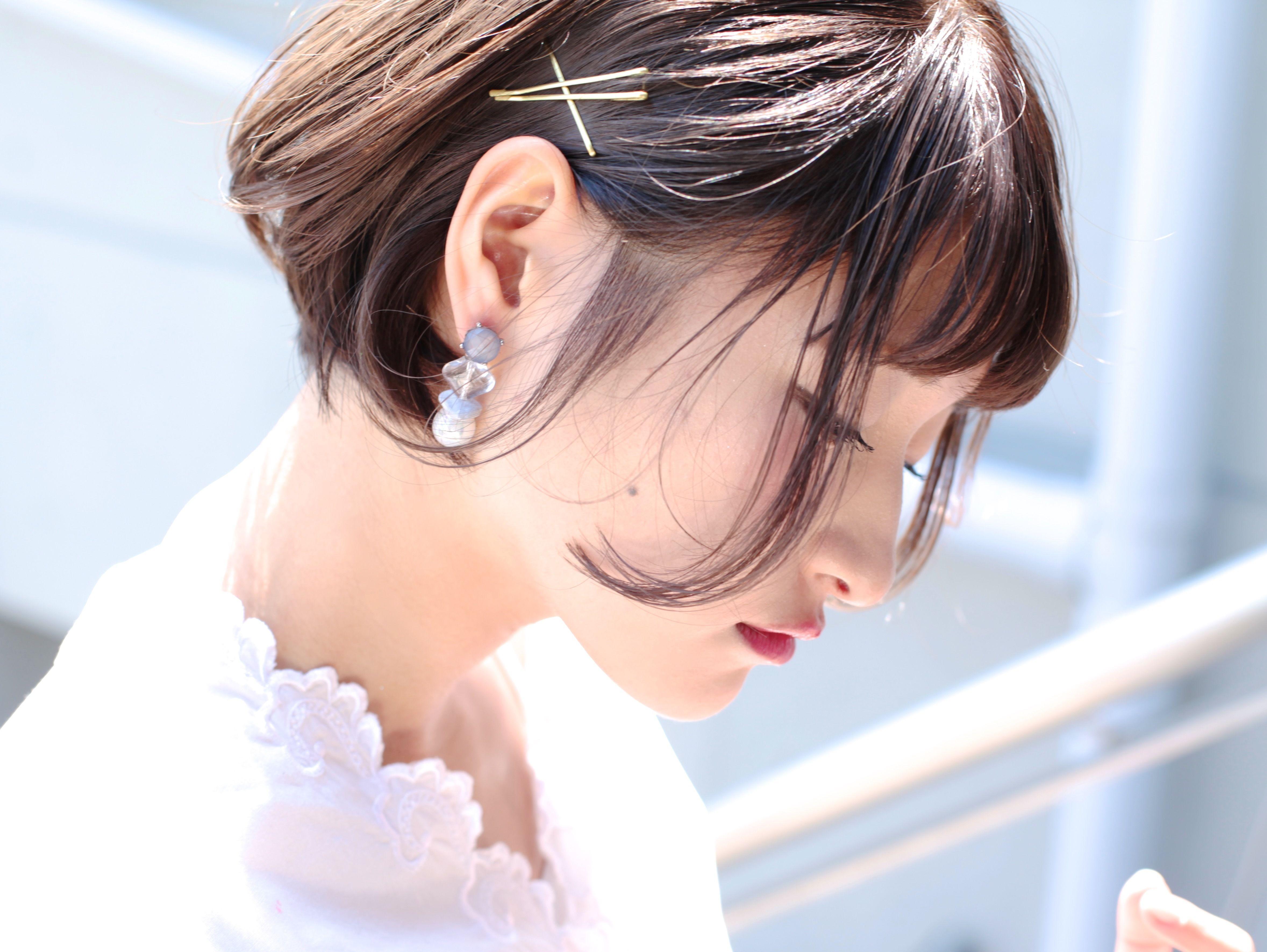 Loose GRAY pierce/earring