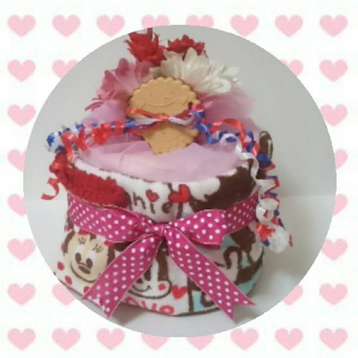 1段 おむつケーキ ミニー