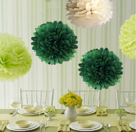 ペーパーポンポン ハニカムボール ペーパーフラワー パーティー 小物 ウェディング 小物 結婚式 アイテム ウエディング 装飾 インテリア グリーン5個セット