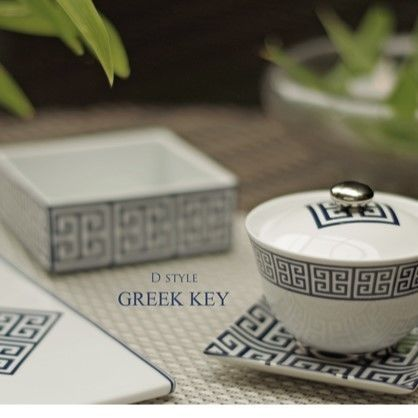 『GREEK KEY』藍