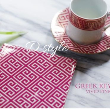『GREEK KEY』vivid pink