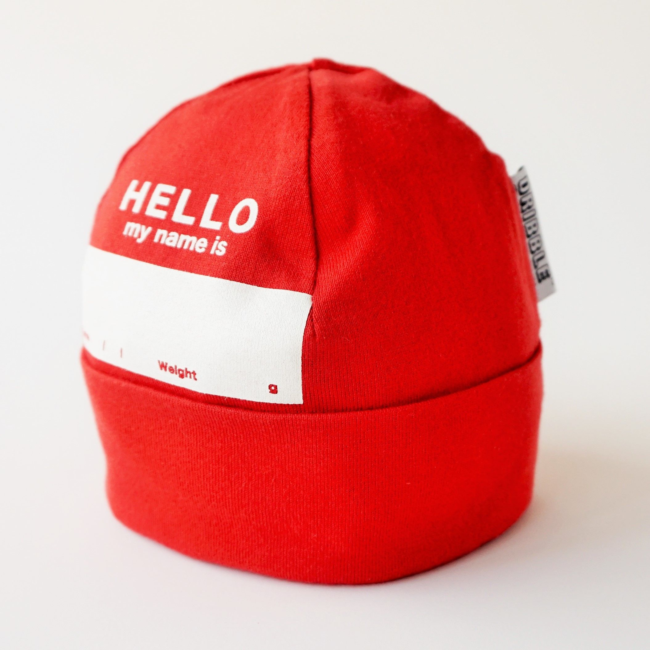 "DRIBBLE ""HELLO MY NAME IS"" ビーニー / RED"
