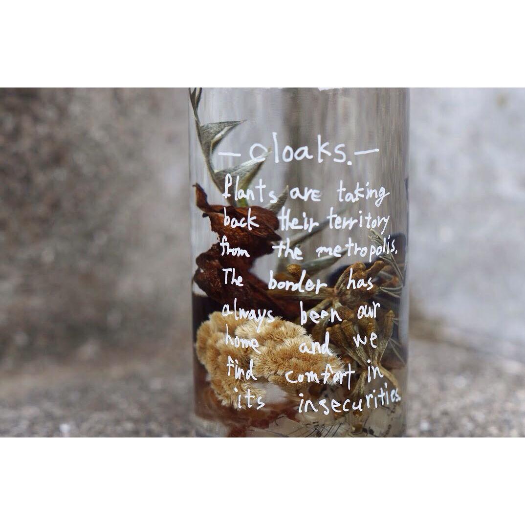 Bottled flower.