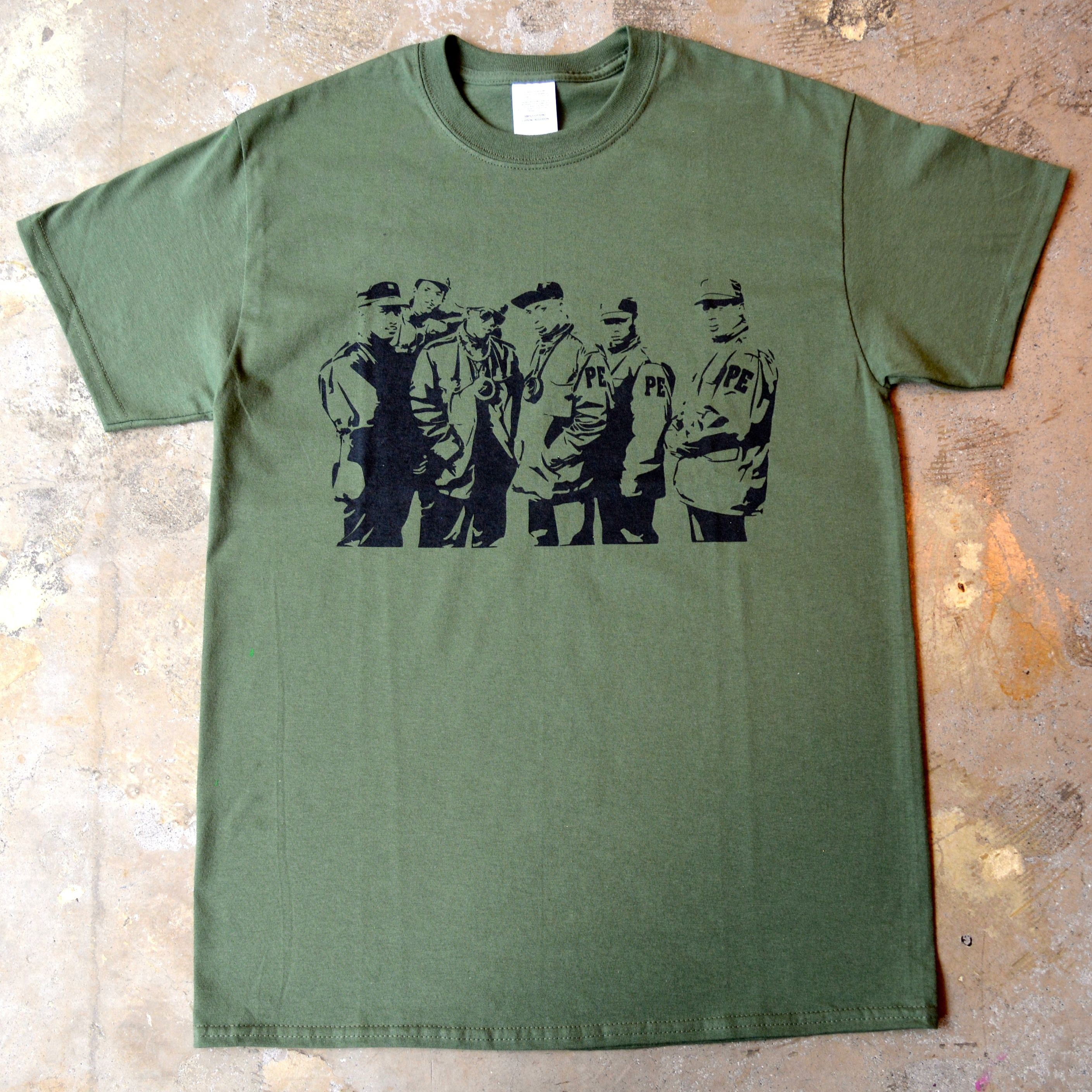 """""""PUBLIC ENEMY"""" SILHOUETTE S/S TEE (OLIVE)"""