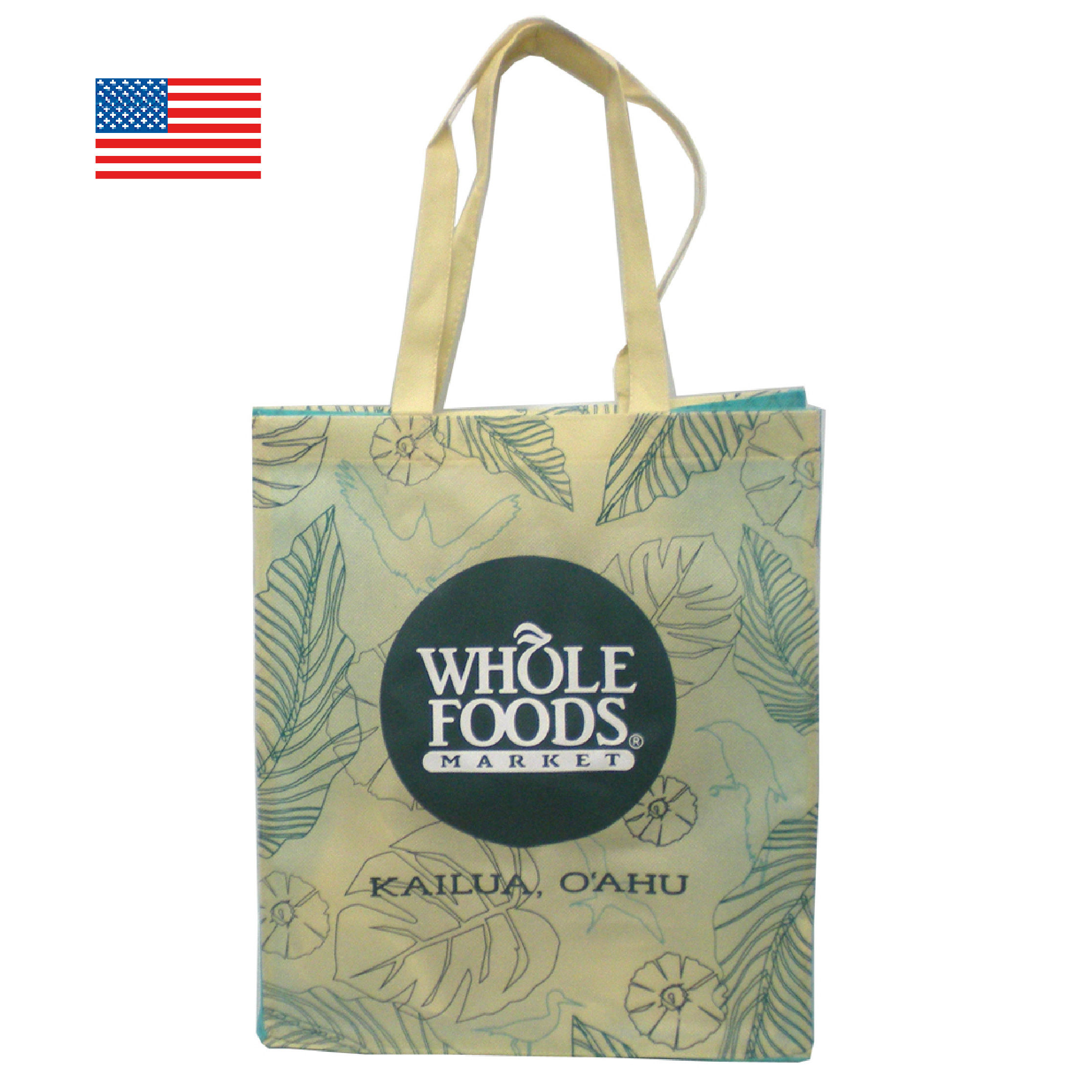 WHOLE FOODS ホールフーズ エコバッグ/カイルア 【アメリカ直輸入】