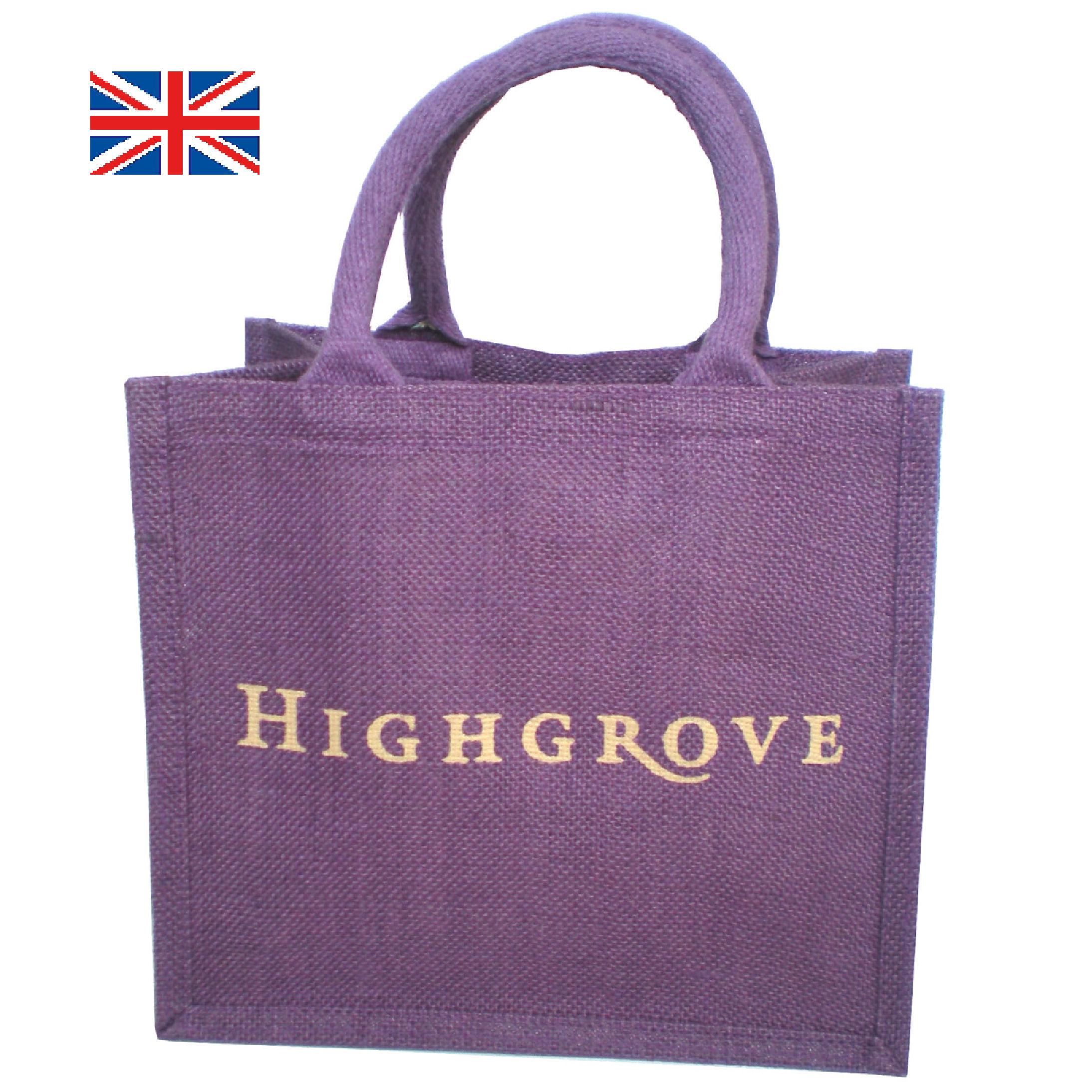 英国王室御用達 HIGHGROVE ハイグローブ エコバッグ(ランチトート/バイオレット) イギリス 直輸入