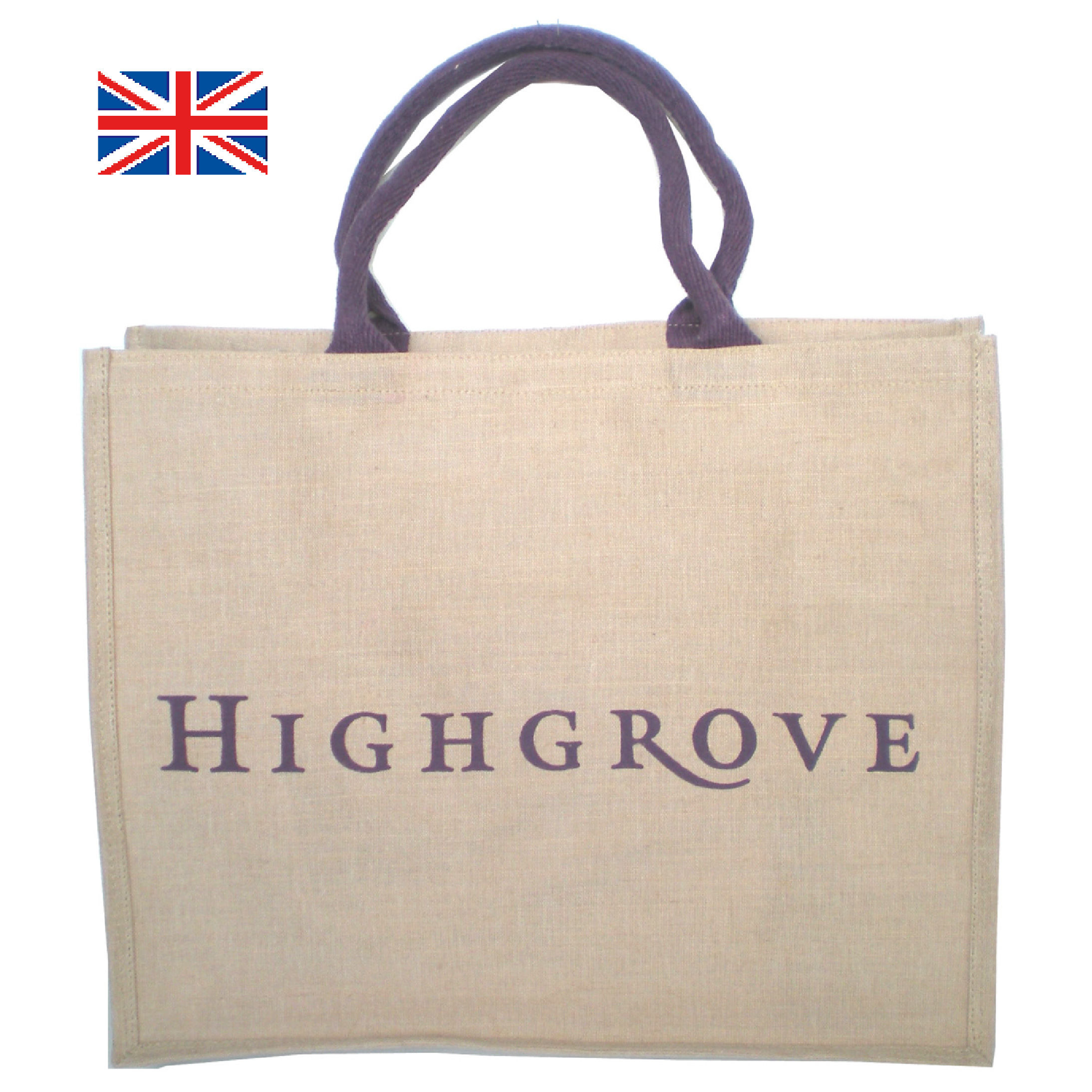 英国王室御用達 HIGHGROVE ハイグローブ エコバッグ (ロープハンドル) イギリス 直輸入