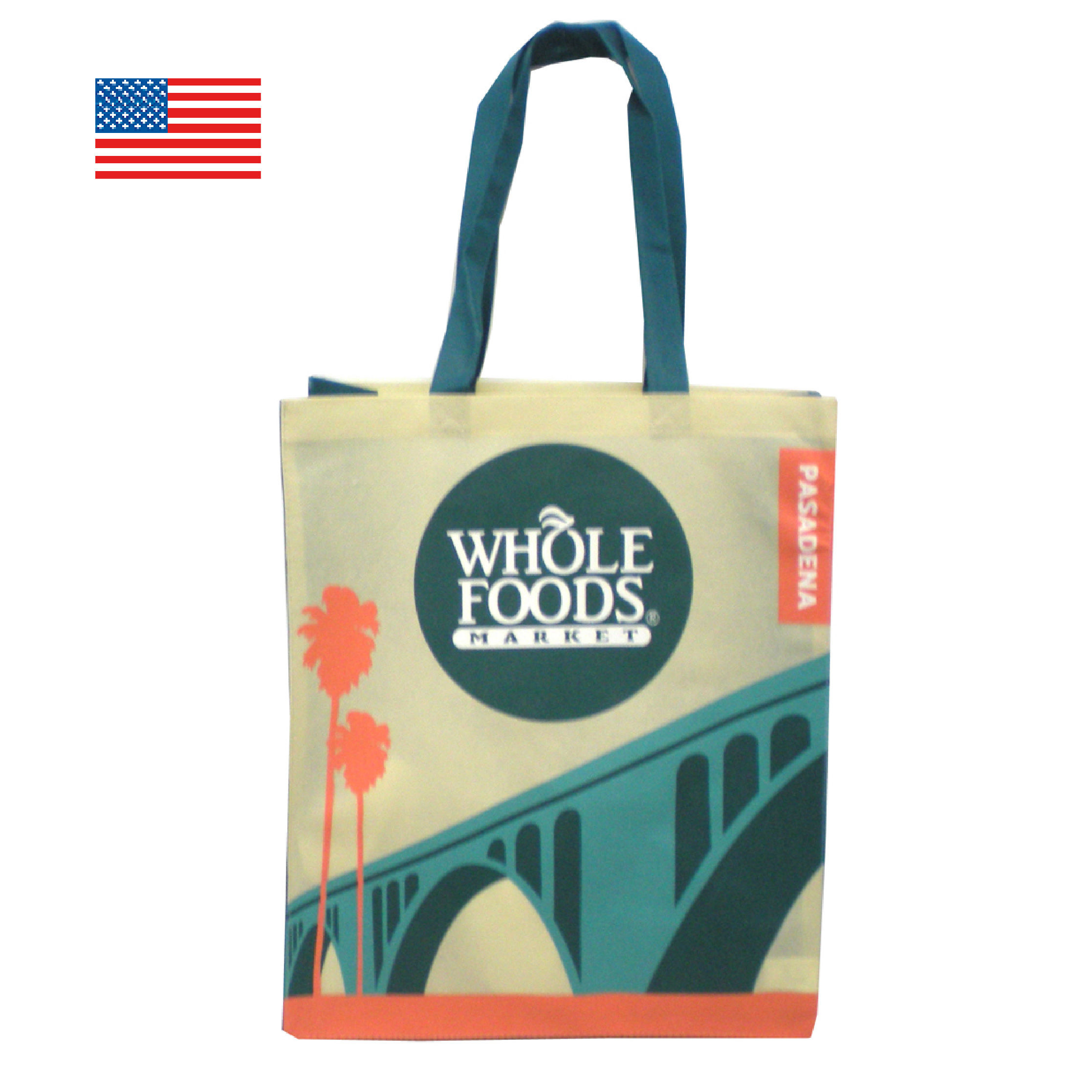 WHOLE FOODS ホールフーズ エコバッグ/パサデネ 【アメリカ直輸入】