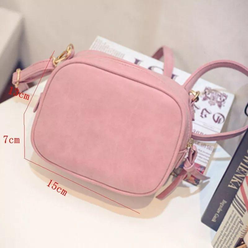 ピンクのショルダーバッグ PU レディース