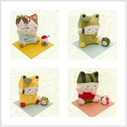 ほっこり ちぎり和紙 招き猫(3種)