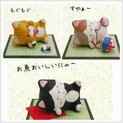 ほっこり ちぎり和紙 ごろ猫(3種)