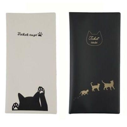 猫柄  チケット カード パスケース