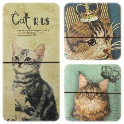 CAT 3種 アンティーク調 パスケース