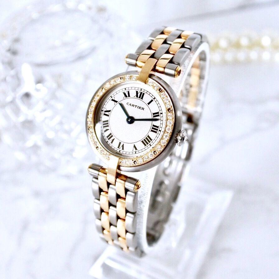 Cartier カルティエ パンテール SM 33P 高級ダイヤモンド コンビ クォーツ レディース 腕時計