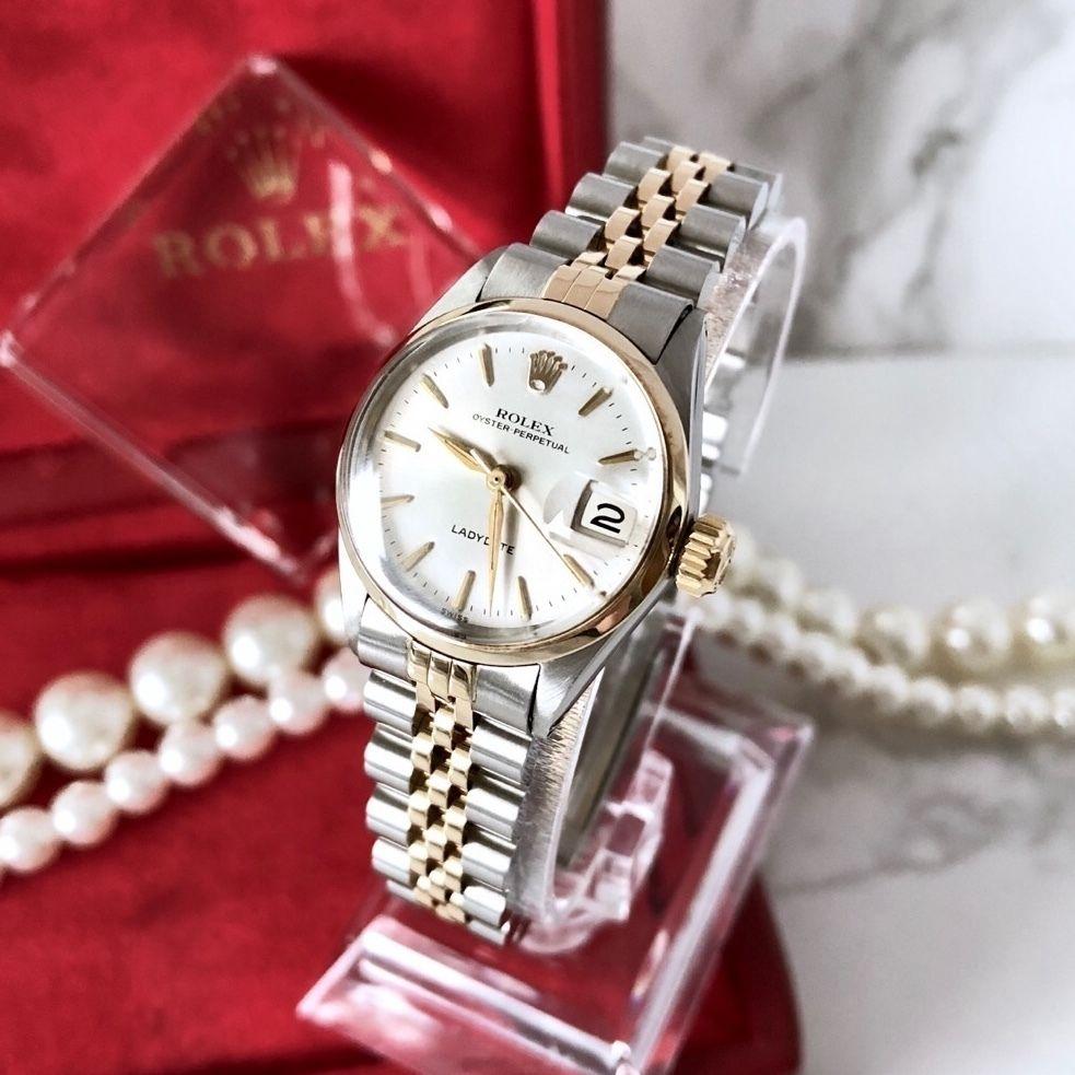 ROLEX ロレックス オイスター パーペチュアル  コンビ  自動巻 レディース 腕時計