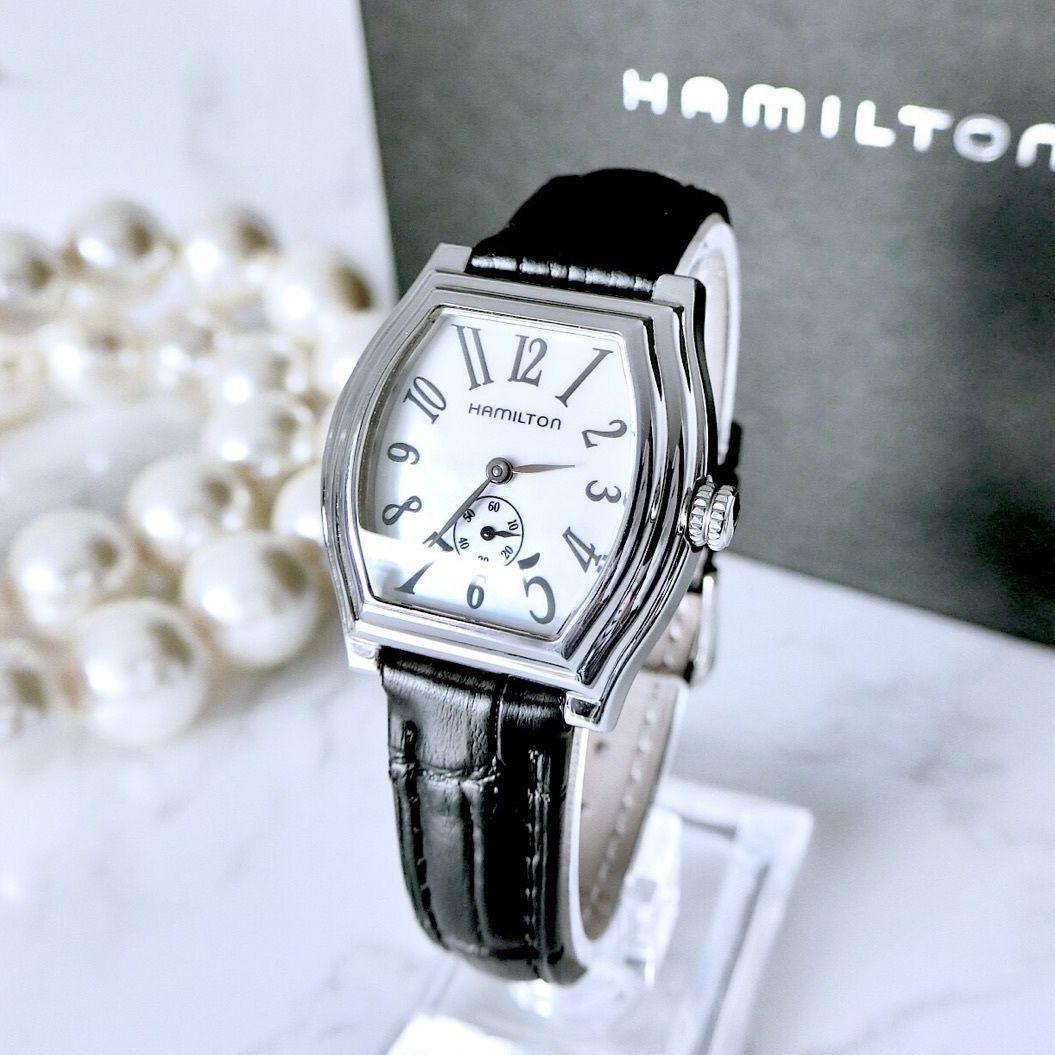HAMILTON ハミルトン ダッドソン スモセコ ベルト2色付 シェル文字盤 クォーツ レディース 腕時計
