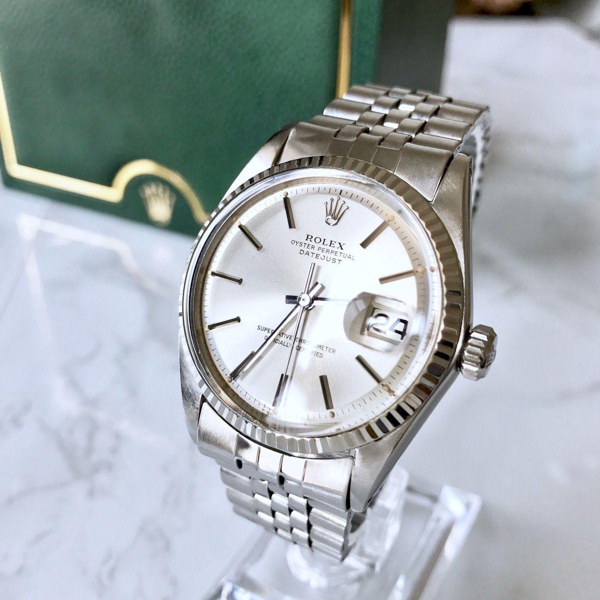 ROLEX ロレックス デイトジャ スト オイスター   K18WGベゼル 自動巻  メンズ 腕時計