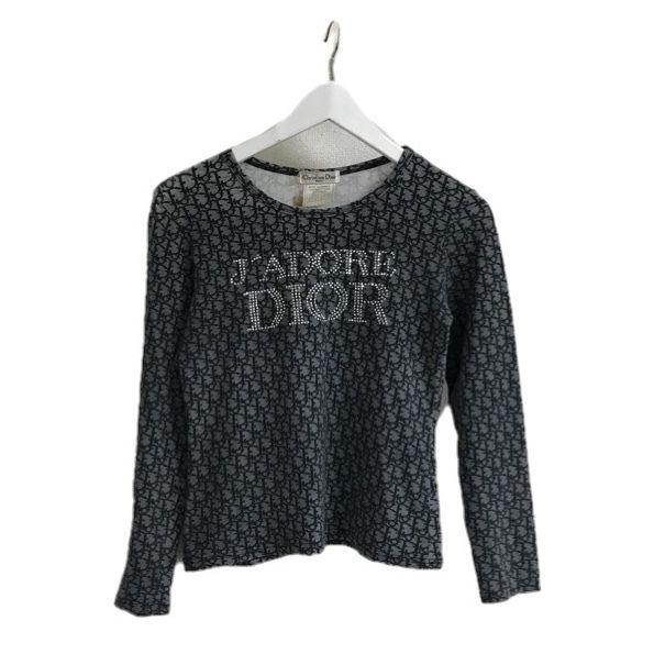 Dior rhinestone logo tee