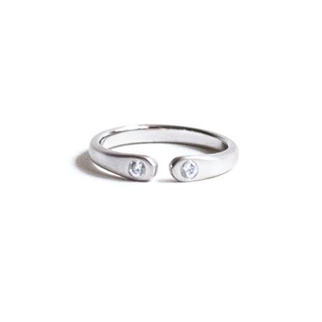 Wrap Ring 2 Diamond Ring For Women Pt900 (#7, #9)
