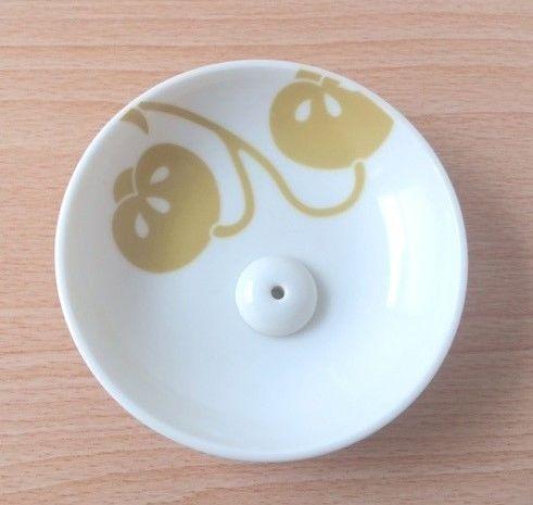 香立&香皿 縁 茶の実紋 美濃焼