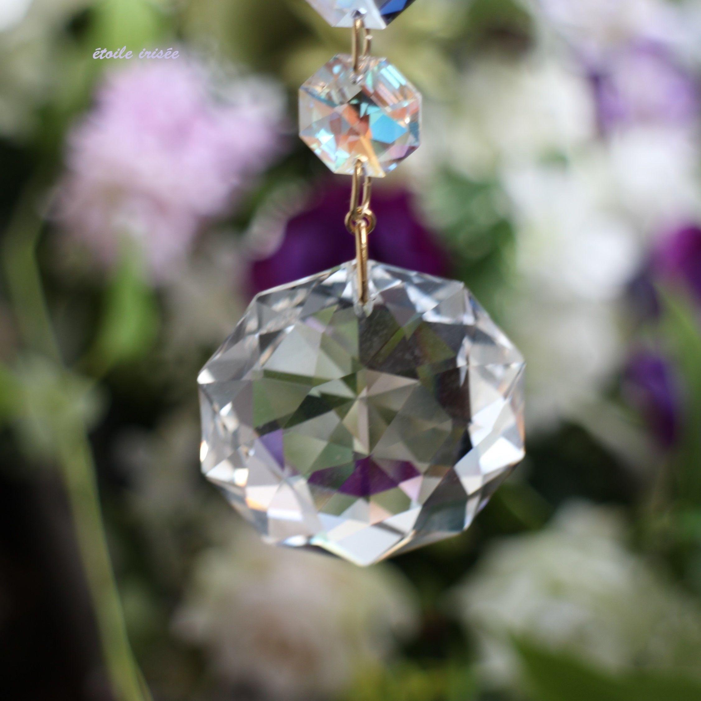 ダリアの花のパステル・サンキャッチャー(38㎜)