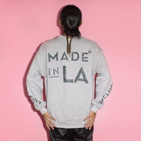 イーブンフロウ MADE IN L.A. クルー  #GREY