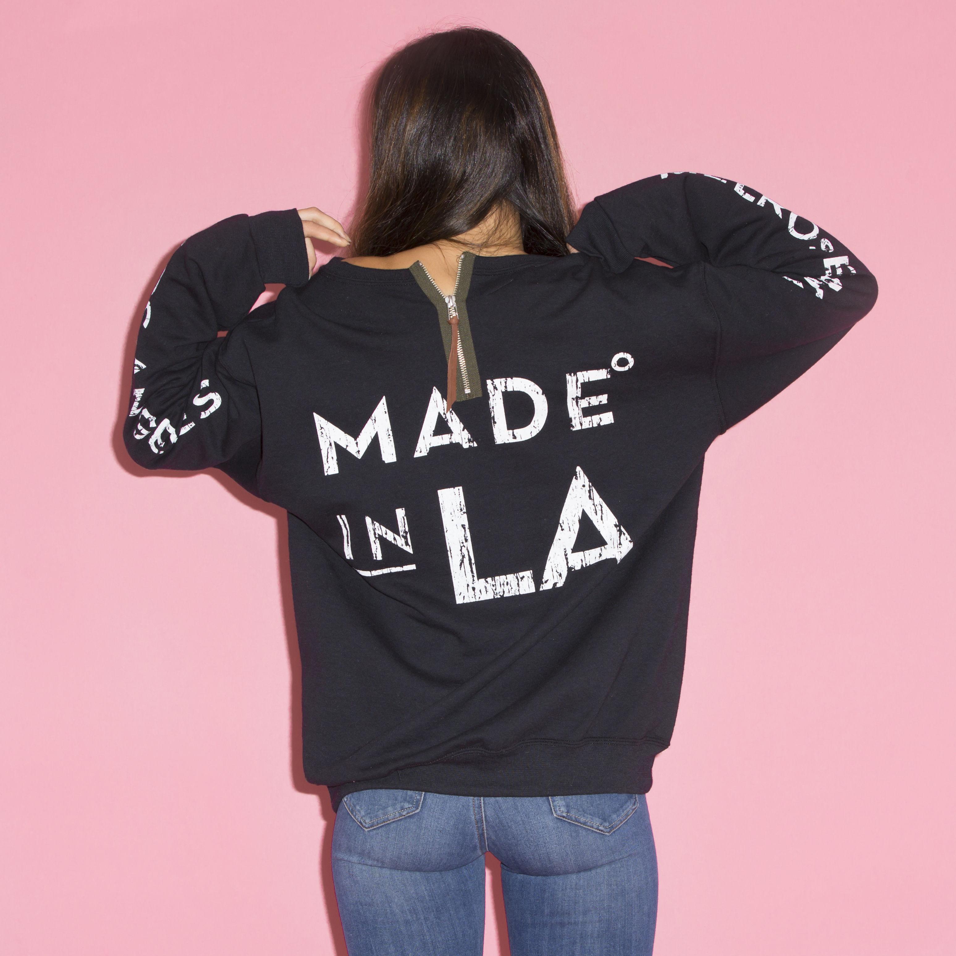 イーブンフロウ MADE IN L.A. クルー  #BLACK