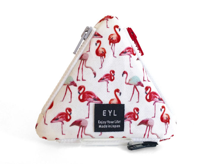 "EYL triangle coin purse ""Flamingo"""