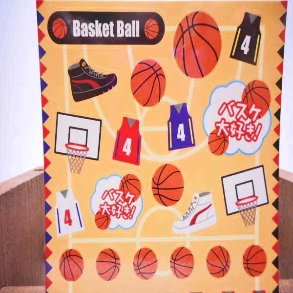 通販ショップ オリジナルシール バスケットボール はがきサイズ  のコピー