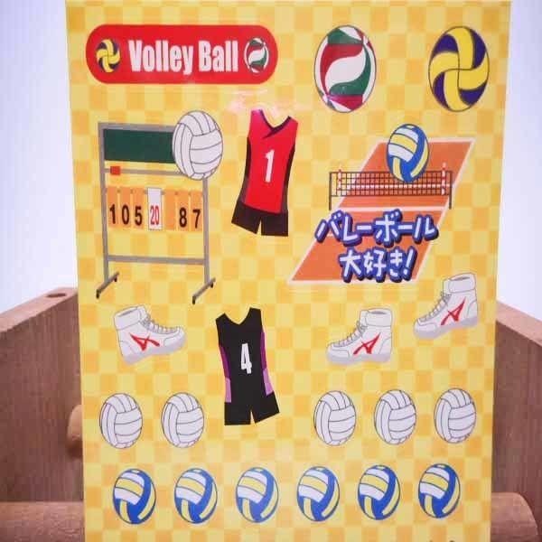 通販ショップ オリジナルシール バレーボール はがきサイズ  のコピー  のコピー