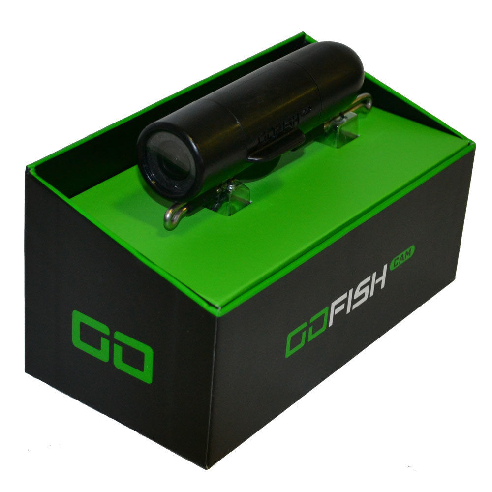 GoFISHCAM  / ゴーフィッシュカム 150m 防水 4時間長時間バッテリー搭載 暗闇撮影用ライト搭載 WiFi接続 アプリ連携 水中カメラ フィッシングカメラ ブラック 黒 釣り用カメラ