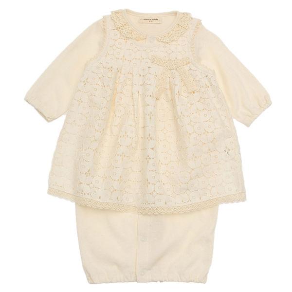SENSE OF WONDER オーガニックコットン BASICエプロン付き兼用ドレス [50-70cm] 日本製 (通年タイプ)