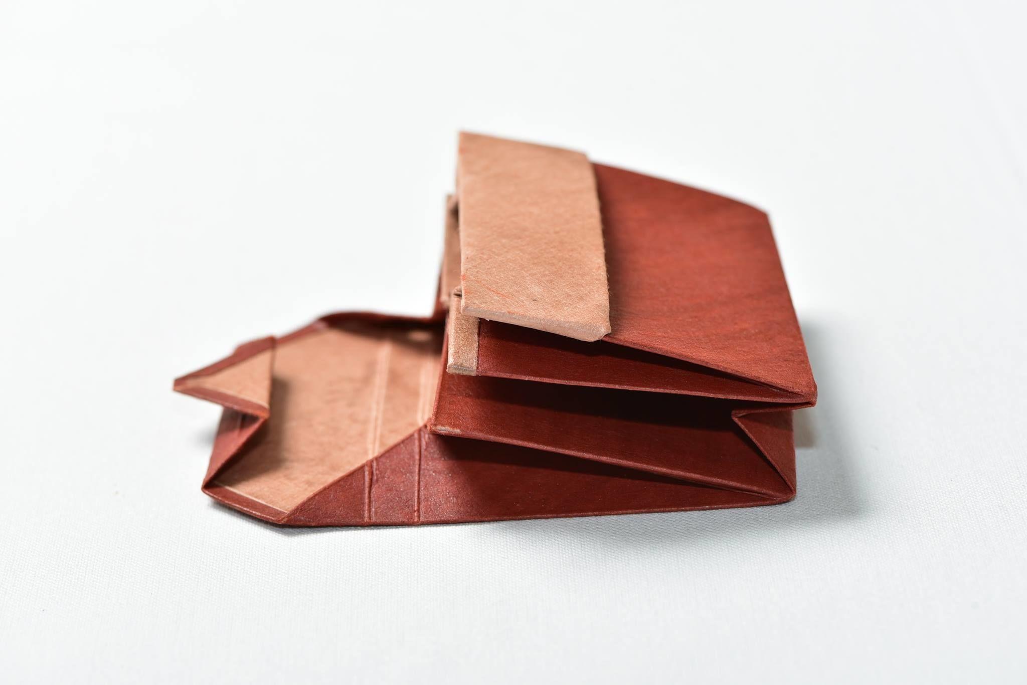 オリンモ(オリガミ×小国和紙 カードケース)(Color:アカシブ)