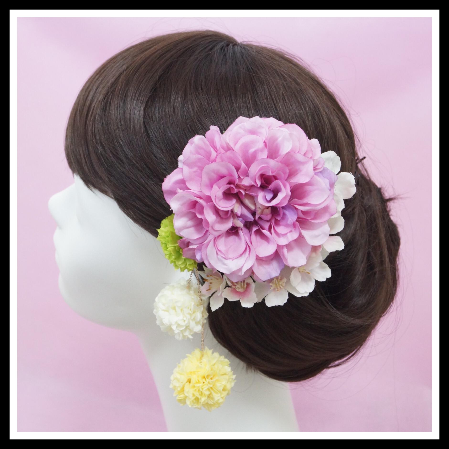 桜とダリアの揺れる髪飾り_0001