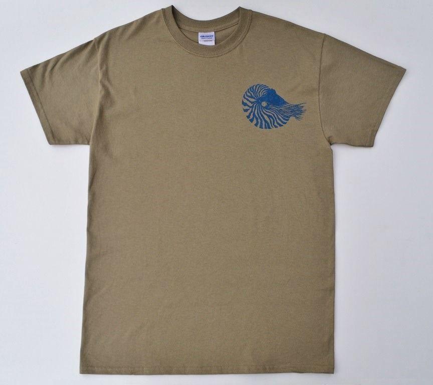 オウム貝Tシャツ、貝、半袖シャツ、送料無料、メンズ半袖Tシャツ