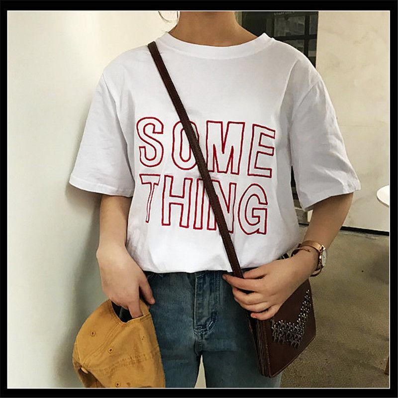 【韓国インポート】SOMETHEINGーTシャツ【3カラー】