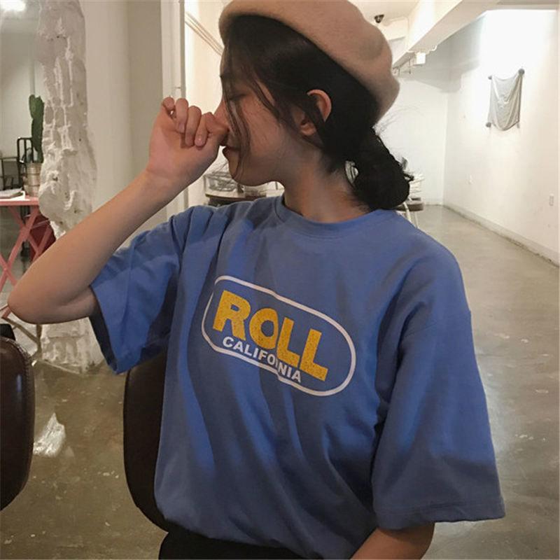 【韓国インポート】レトロロゴTシャツ【2カラー】