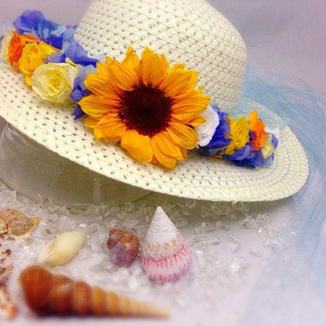 ひまわりの花かんむり(オーダー承ります)