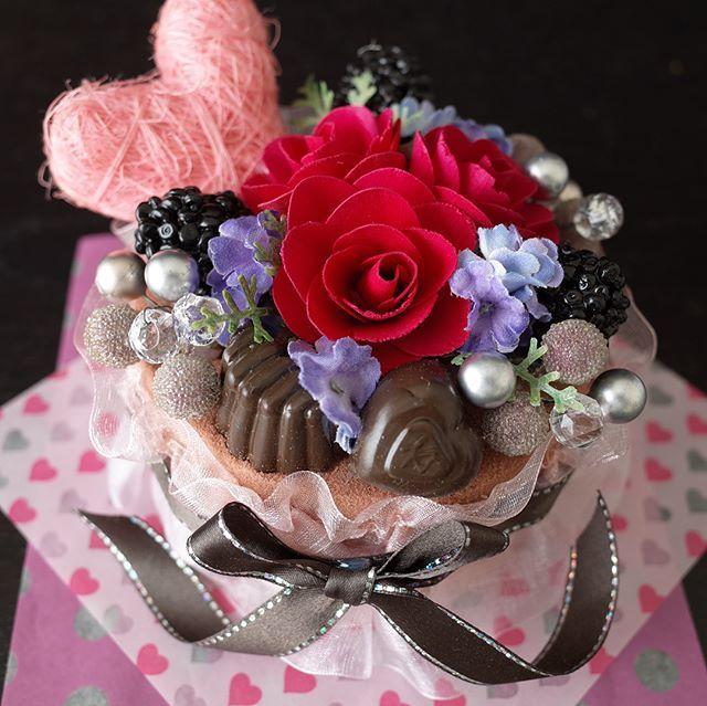 フラワーケーキ*ショコラ2?バレンタインにも♪