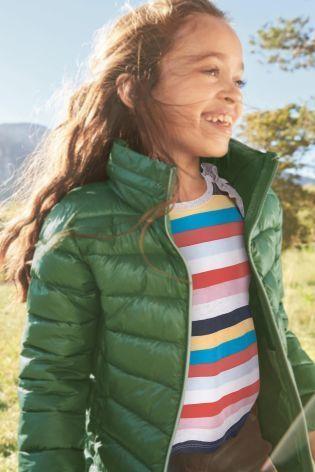 ライトウェイト パッド入りジャケット  (7~12 歳) グリーン