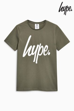 Hypeロゴ入りTシャツ(4歳~12歳) カーキ