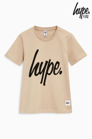 Hype ロゴ入りTシャツ(3歳~12歳)サンド