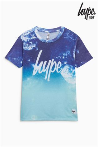 Hype フェイドプリント Tシャツ(3歳~12歳)ブルー