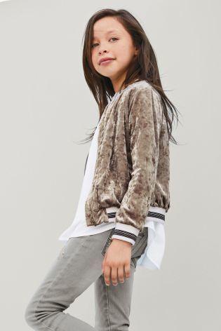 ベルベット ジャケット (7~12 歳) キャラメル