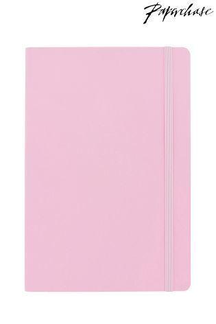 Paperchase ミディアム ソフト Agenzio ノート(ピンク)