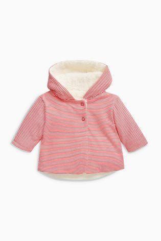 ストライプジャケット(0~24か月) ピンク