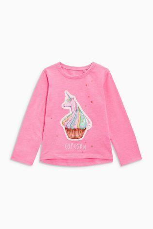 カップコーン柄 Tシャツ (2~6歳) ピンク
